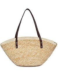 14e7e6cfa45e louzheni Bolsa ratán saco de cuadro Bolsa de playa mujer paja bolsa de mano  bolsa de