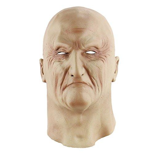 BESTOYARD Halloween Masken Alter Mann Gesicht Vollkopfmaske Halloween Kostüme Halloween Party Zubehör
