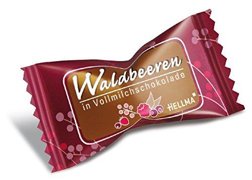 Hellma Schokolade mit Fruchtfüllung Waldbeere in Vollmilchschokolade 380 St.