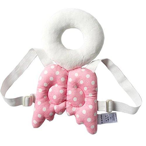 Glield Baby-Kopf-und Rückseite schützen Kissen Schützen Pad, Fit für 4-15 Monate Baby Lernen zu gehen oder laufen ETHZ01 (rosa)