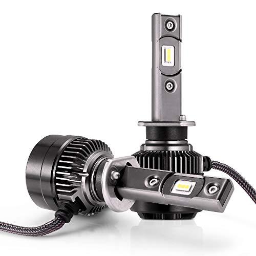 AUTLEAD H1 Fari a LED Lampadina - Luce alta/bassa, Fendinebbia per Auto, CSP 70W 7200LM, 6500K Luce Bianca Fredda per Fari Auto, Kit di Conversione Impermeabile, puo sostituire la lampada alogena