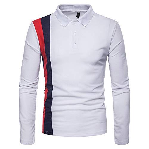 TWBB Herren Bekleidung Hemd Slim-Fit Sweatshirt Patchwork Langarmshirt Pullover Oberteile Tops
