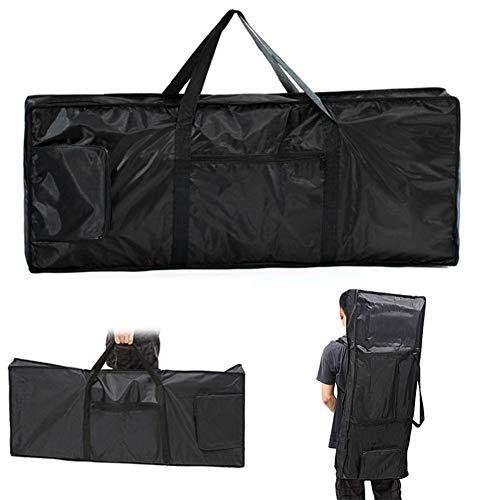 Keyboardtasche Wasserdichte 61 Tasten Keyboard Rucksack schwarz Reisetasche Portable