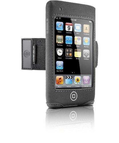 DLO 71055/10 Neopren-Tasche für iPod Touch 2G (Armband, Sichtfenster und 360° drehbaren Gürtel-Clip) schwarz