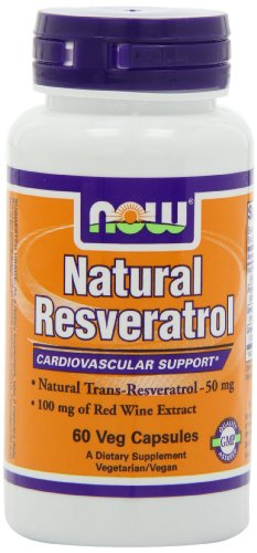 Natural Resveratrol - 60 gelules vegetales - Now foods