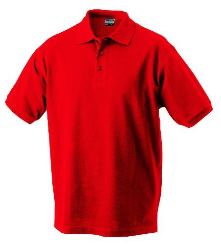 Hochwertiges Polohemd mit Armbündchen Signal Red