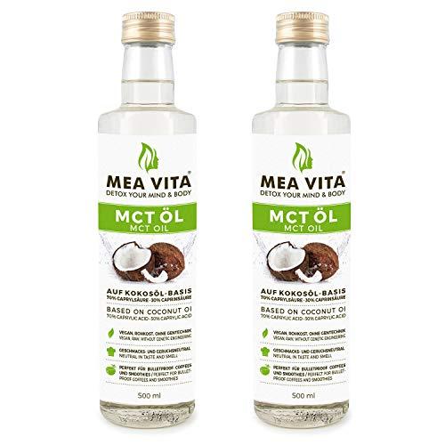 MeaVita MCT Öl, Premium Qualität (2 x 500 ml) (Fisch öl Ergänzungen)
