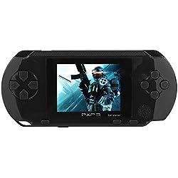 JouerNow Negro/Rojo/Azul/Verde PXP3 delgado Handheld de 16 bits consola de juegos de vídeo juego de Retro Juegos 150+ (Negro)