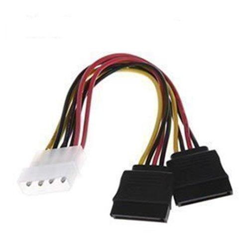 JMT IDE 2 Serial ATA SATA Y Splitter 4 Pin disque dur adaptateur câble cordon d'alimentation Molex