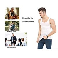 Mens Slimming Body Shaper Undershirt Vest Shirt Abs Abdomen Shaperware Bodywear Vest Shirt Tank Top Compression Shirt Shapewear For Men