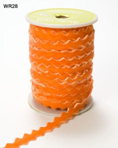 Ric Rac orangem Samt, 10 mm, von May Arts Länge 3 m, Schnitt von Rolle) -
