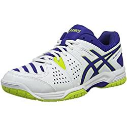 Asics Gel-Dedicate 4, Zapatillas de Tenis para Hombre, (White Blue/Lime), 40.5 EU