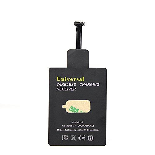 YLC Universal-Qi Wireless Charging Receiver Wireless-Ladegerät Receiver Film für Micro-USB Aller Android-Handy (Schmal Schnittstelle Bis) (Qi-receiver)