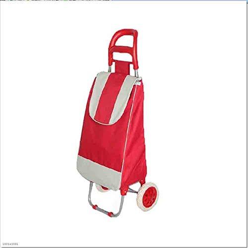 YIWIU Trolley per la Spesa Carrello per La Spesa con Ruote Carrello per Shopping A 2 Ruote con Grande capacità per Le Ruote (Colore : Blue)