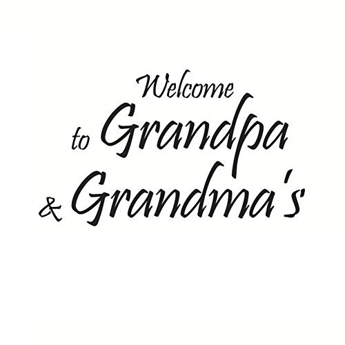 AzuNaisi Willkommen bei Opa und Oma Vinylwand Zitate und Sprüche Tapeten Wandaufkleber entfernbare Wand Aufkleber für Schlafzimmer Wohnzimmer Home dekor