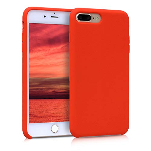 Kwmobile apple iphone 7 plus / 8 plus cover - custodia per apple iphone 7 plus / 8 plus in silicone tpu - back case cellulare rosso pomodoro