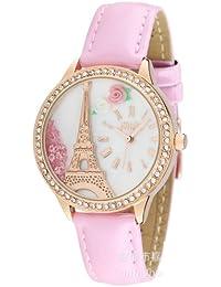 ufengke® beliebte treibsand strass mini armbanduhren für rosa band goldturm blumenwahl