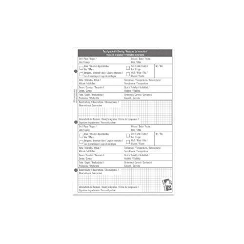 IQ Logbuch Refill L 2DIVES Per Page-Logbuch Einlagen, weiß