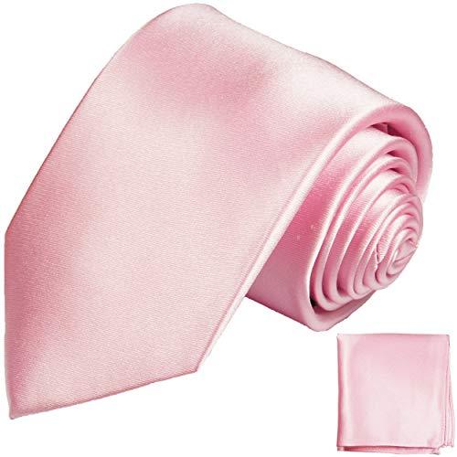 Paul Malone Krawatten Set 3tlg 100{5325568a89a24594facaf2c20b3bcd00b5cabb45b21f0cb34df578e6a211f01b} Seide rosa satin uni (Normallange 150cm)