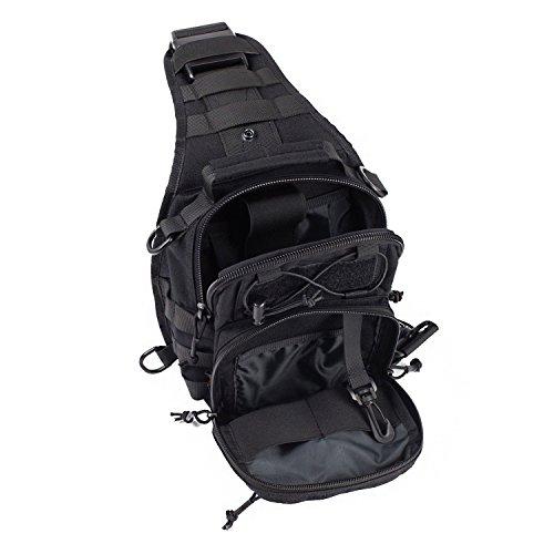 hoaey Outdoor Schulter Militär Tactical Rucksack Reisen Camping Wandern Trekking Tasche B