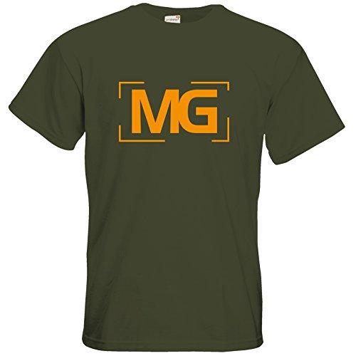 getshirts - Fernsehkritik / Massengeschmack - T-Shirt - Cornerlogo Khaki