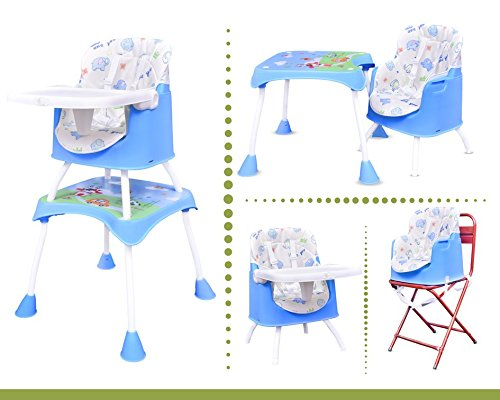 R for Rabbit Cherry Berry Grand - The Convertible 4 in1 High Chair (Blue)  available at amazon for Rs.4194