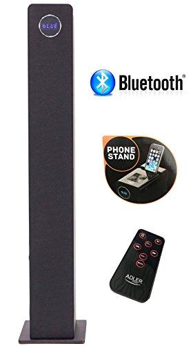 2.1 Sound Tower | Lautsprecherturm | Musikanlage | Musiksystem | Kompaktanlage | Bluetooth Hi Fi Musikanlage | Soundsystem | USB | SD- Card | Fernbdienung | Turmlautsprecher (Schwarz)