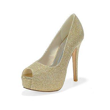 SANMULYH Scarpe Donna Glitter Frizzante Primavera Estate Della Pompa Base Tacchi Stiletto Heel Peep Toe Per Party & Abito Da Sera Argento Oro Nero Oro
