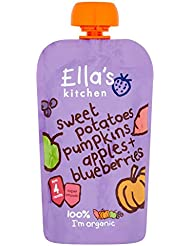 Ella's Kitchen Organic Sweet Potato Pumpkin Apple and Blueberries, 120g