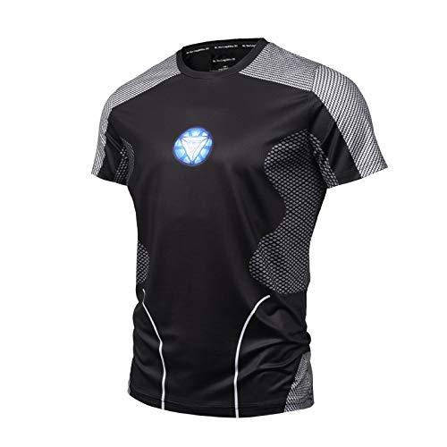 on Man 3D-Druck T-Shirt Herren/Damen Superheld Kurzarm Fitness Bekleidung Herrenhemd Tops T-Shirt,OneColor-XL ()