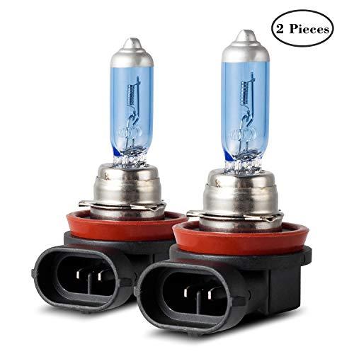 DZG - H8 Halogenlampen 12V 35W Scheinwerferlampen 5000K Warmweiß Nebelleuchte DRL Angel eye Birne, 2 Stücke