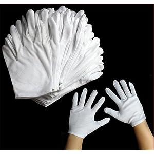 J*myi J*myi Dünne flache Stoffhandschuhe Baumwollgarnetikette gestrickte weiße Baumwollhandschuhe aus Polyester * 1 Stück