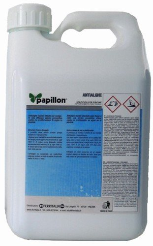 Papillon alguicide for swimming pool Anti Alga liquid for swimming pool (5 kg)