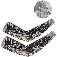 DQWGSS Mangas de Brazo de enfriamiento Cubierta de Tatuaje de protección UV para Hombres Mujeres Niños Soporte de Brazo para Ciclismo Conducción Deportes al Aire Libre Golf 1 Pares,Style 4
