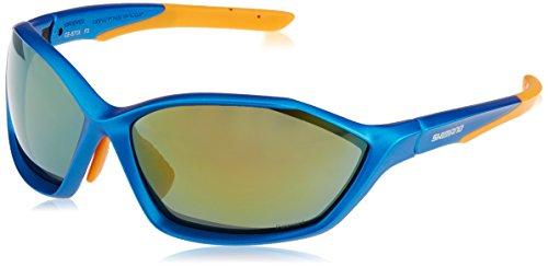 Shimano Sportsonnenbrille S71X-PL, Neon Blaumetallic/Orange, One Size, ECES71XPL
