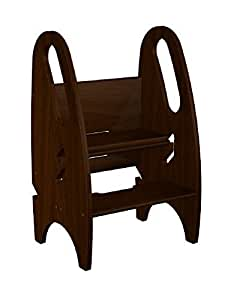 The Growing Step Stool by Little Partners (Espresso) ? 3 Position Adjustable Height Kids Step Stool - Perfect Bathroom, Nursery or Kitchen Stool - 100% Solid Wood Construction WILL NOT TIP OVER - Supports Both Children & Adults - Help Your Child Feel Independent, to Learn & Explore, or Use it to Lower Baby in the Crib - GREAT Gift for Expecting Mothers, Parents of Infants & Especially Toddlers - the First & Last Child Step Stool You'll Ever Need by Little Partners