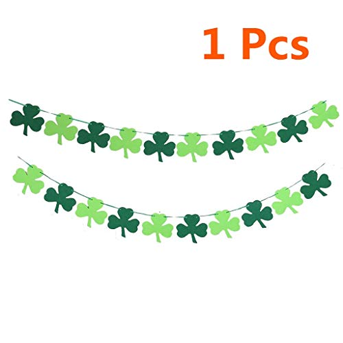 Formemory Wimpelkette Kleeblatt St. Patrick 's Day Banner irische Girlande für St. Patrick's Day Party Dekorationen St. Paddy's Decor (S Party Patrick Day St)