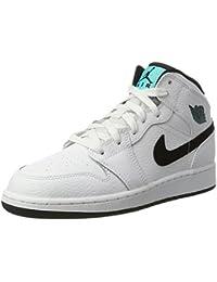 Nike Air Jordan 1 Mid Bg, Zapatillas de Baloncesto Unisex Niños