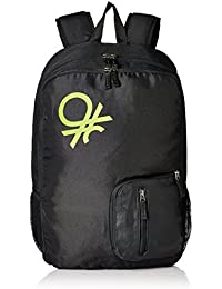 United Colors of Benetton 21 Ltrs Black Casual Backpack (16A6BAGT7007I)