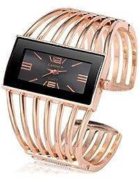 Belles montres, Femme Montre Bracelet Quartz Chronographe Mignon Design  nouveau Acier Inoxydable Bande Analogique Rigide fd55b0783ee