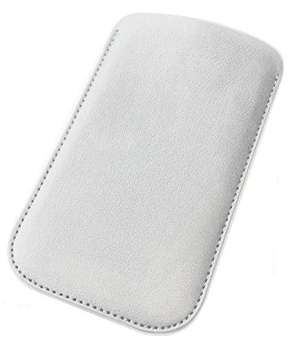 Funda para Alcatel One Touch 2001 Funda de Piel protectora Funda de piel blanco