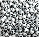 JOLLY STORE Crafts Skull Beads Antiqued White 100pc