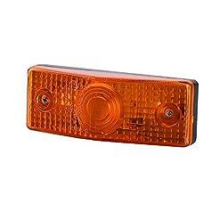 1x arancione luce di indicatore laterale 12V 24V e-contrassegnato auto camion rimorchio luce di posizione illuminazione Outline ambra universale lampadina