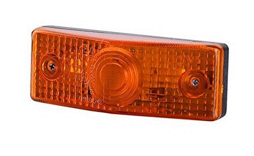 Rechteckige Leuchte (1 x Orange Begrenzungsleuchte Seitenleuchte 12V 24V mit E-Prüfzeichen Positionsleuchte Umrissleuchte Anhänger Wohnwagen LKW PKW Leuchte Licht Birne)