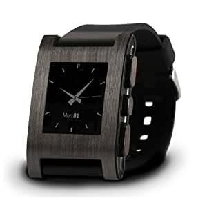 Brushed Onyx Wrap for Pebble Watch - Retail Packaging - Brushed Onyx(wrap only)
