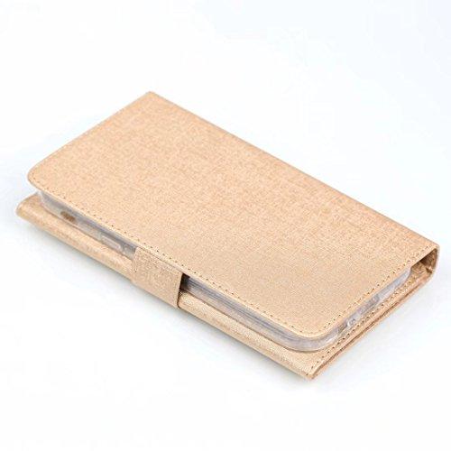 Cross Lines Texture PU Leder Wallet Case mit freistehenden TPU Back Cover Card Slots für Samsung Galaxy A7 2017 ( Color : Blue ) Gold