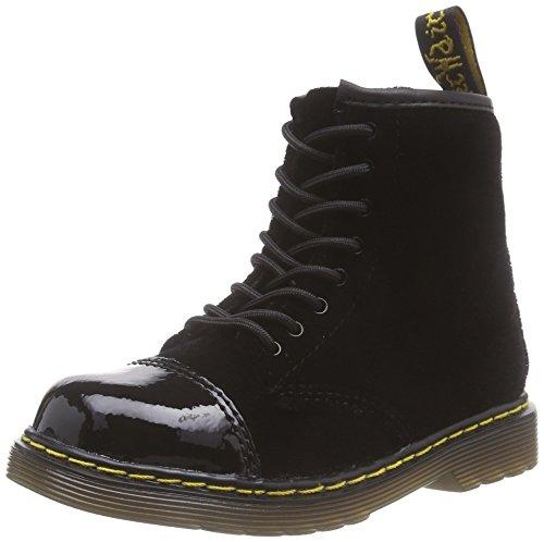 Dr. Martens  BUNNY Ze You Velvet, chaussures bateau mixte enfant - Noir - Noir, 26 EU