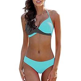 ??Bikini Donna, HOOPERT Costume da Bagno Sexy da Donna in Coordinato Bicolore