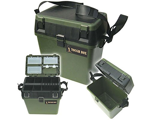 Seat-Box-Fishing-Tackle-Box-with-Padded-Strap-Seat-Pad-Sea-Boat-or-Coarse