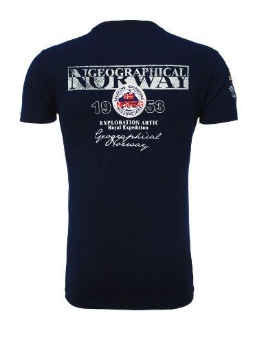 Geographical Norway Herren V-Neck T-Shirt Jyer Royal V-Ausschnitt Shirt Dunkelblau